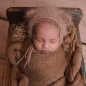 séance naissancebébé endormi